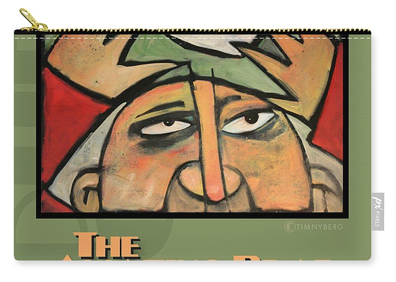 Soup Carry-all Pouch featuring the painting The Amazing Brad Soup Juggler Poster by Tim Nyberg