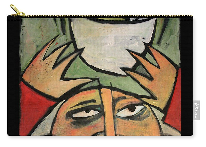 Humor Carry-all Pouch featuring the painting The Amazing Brad Soup Juggler by Tim Nyberg