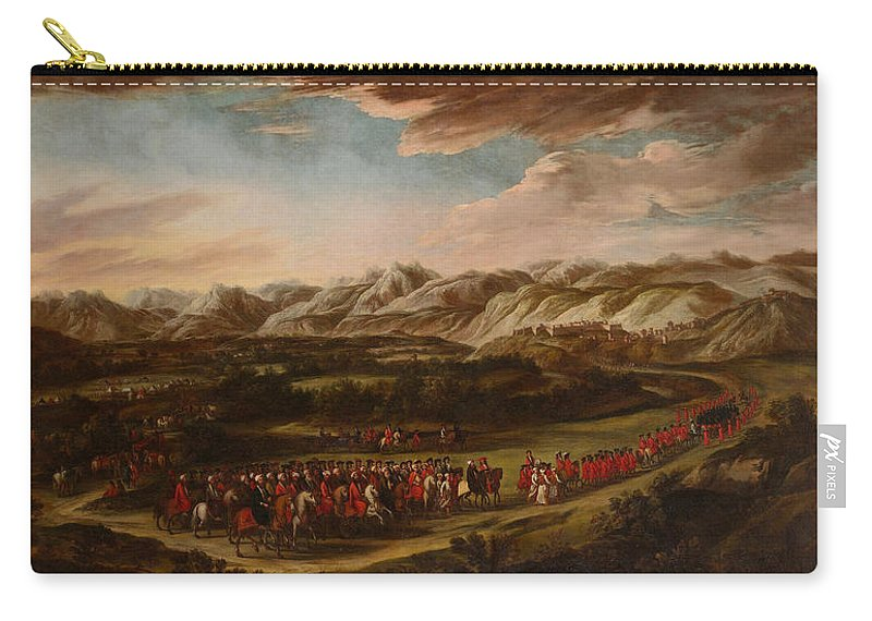 Painting Carry-all Pouch featuring the painting The Ambassadorial Procession by Mountain Dreams