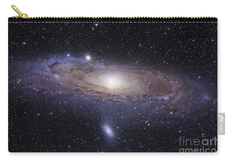 Andromeda Carry-all Pouch featuring the photograph The Andromeda Galaxy by Robert Gendler