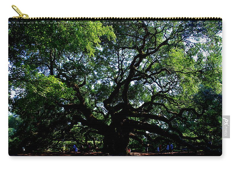 Angel Oak Carry-all Pouch featuring the photograph The Angel Oak In Summer by Susanne Van Hulst