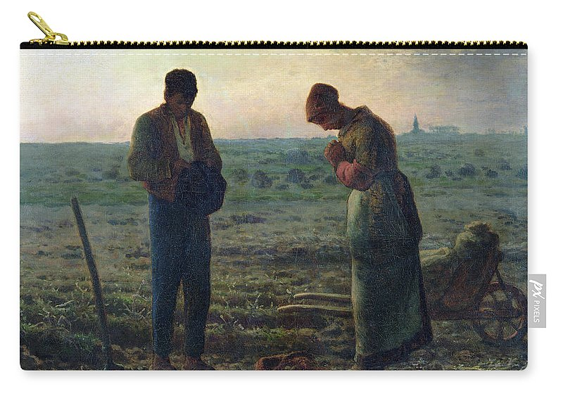 The Carry-all Pouch featuring the painting The Angelus by Jean-Francois Millet