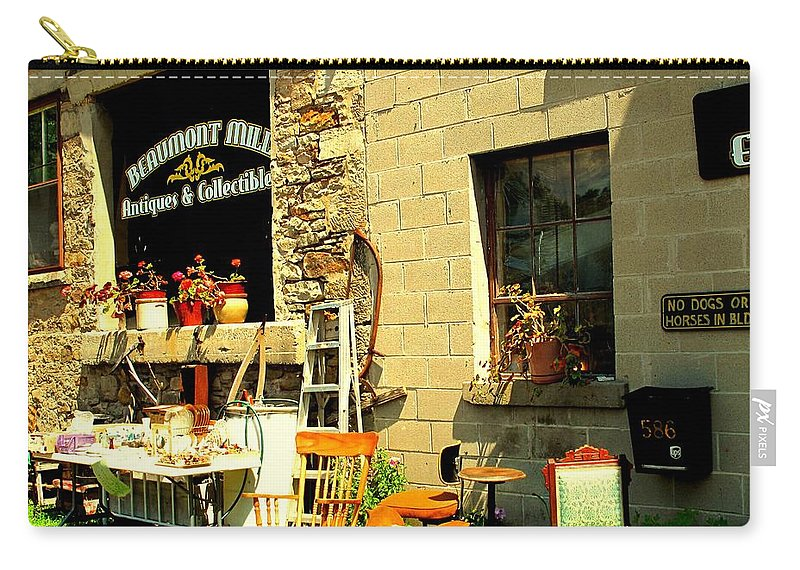 Antique Carry-all Pouch featuring the photograph The Antique Store by Ian MacDonald