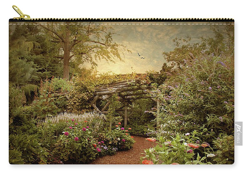 Nature Carry-all Pouch featuring the photograph The Arbor by Jessica Jenney