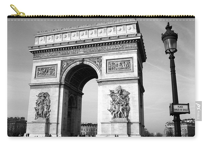 Arc Di Triomph Carry-all Pouch featuring the photograph The Arc Di Triomph by Donna Corless