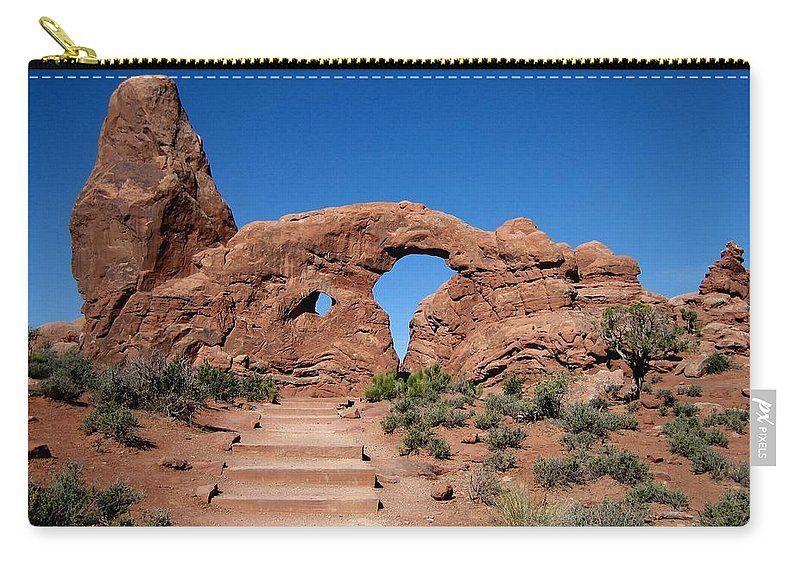 Arch Carry-all Pouch featuring the photograph The Arch by Sandy Keeton