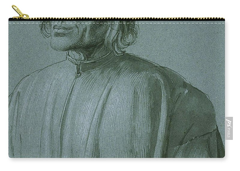 Albrecht Durer Carry-all Pouch featuring the drawing The Architect Hieronymus Von Augsburg by Albrecht Durer