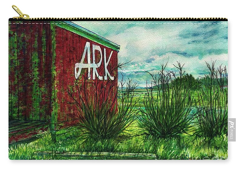 Long Beach Peninsula Carry-all Pouch featuring the painting The Ark Wa. by Cynthia Pride