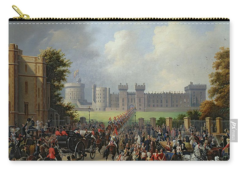 The Carry-all Pouch featuring the painting The Arrival Of Louis-philippe by Edouard Pingret