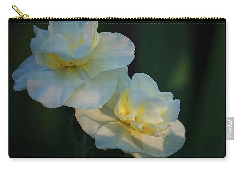 Spring Carry-all Pouch featuring the photograph The Arrival Of Spring by Karen Beasley