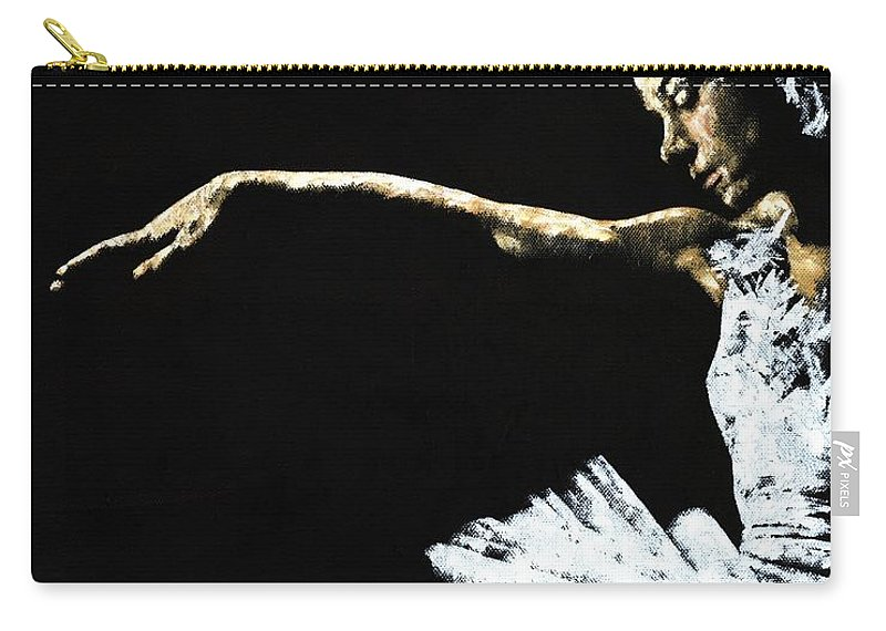 Ballet Carry-all Pouch featuring the painting The Art Of Grace by Richard Young