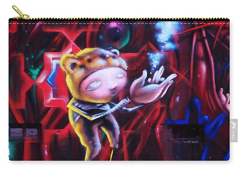 Graffitti Carry-all Pouch featuring the photograph The Art Of Magic by Kicking Bear Productions