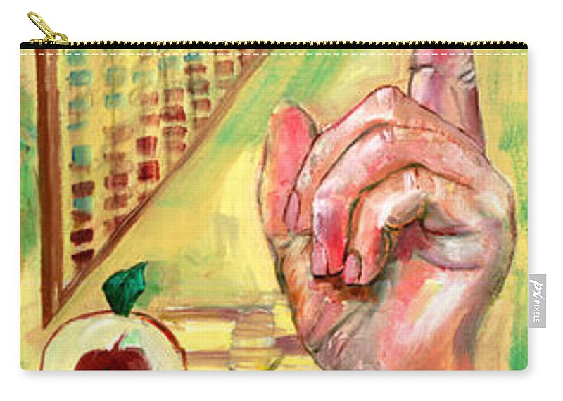 Teacher Teach Learn Owls Trust Teach Children Students Apples Abacus Music Souls Carry-all Pouch featuring the painting The Art Of Teaching by Peter Bonk
