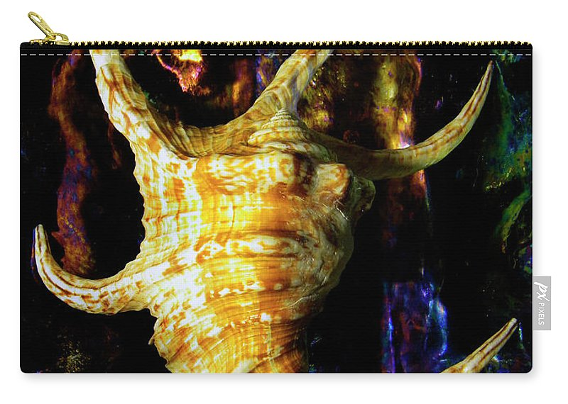 Frank Wilson Carry-all Pouch featuring the photograph The Arthritic Spider Conch Seashell by Frank Wilson