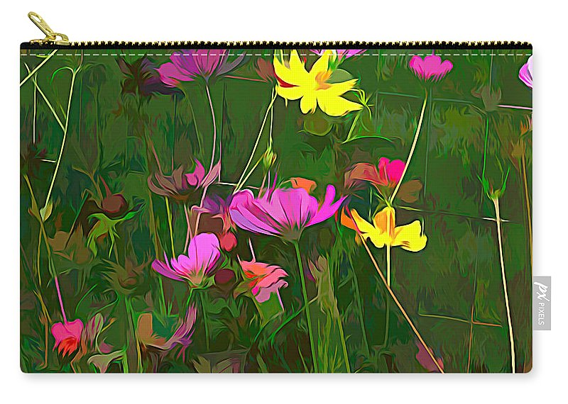 Flowers Carry-all Pouch featuring the mixed media The Artistic Side Of Nature by Debra Lynch