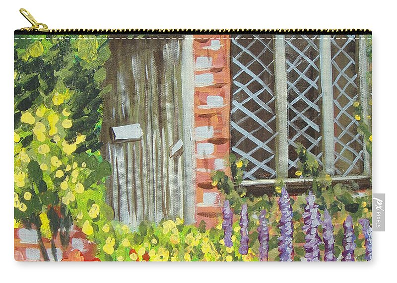 Windows Carry-all Pouch featuring the painting The Artist's Cottage by Laurie Morgan