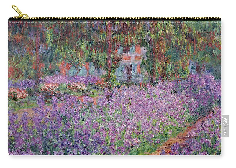 The Carry-all Pouch featuring the painting The Artists Garden At Giverny by Claude Monet