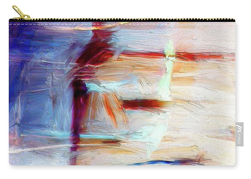 Abstract Carry-all Pouch featuring the painting The Auberge by Dominic Piperata