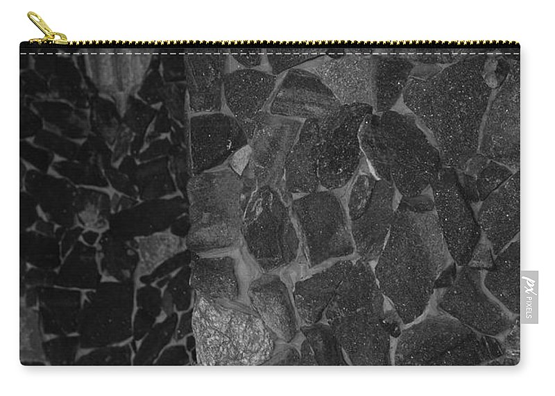Black And White Carry-all Pouch featuring the photograph The B And W Wall by Rob Hans
