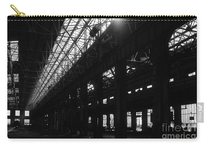Buildings Carry-all Pouch featuring the photograph The Back Shop by Richard Rizzo