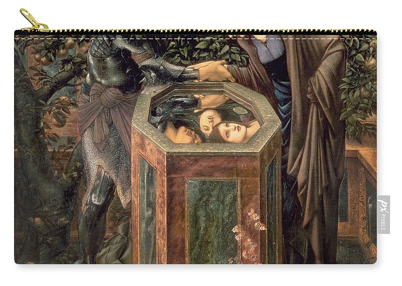 The Carry-all Pouch featuring the painting The Baleful Head by Sir Edward Burne-Jones