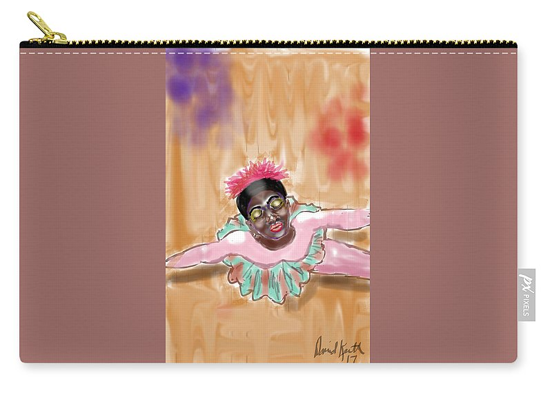 Ballet Ballerina African American Above View Carry-all Pouch featuring the digital art The Ballerina by David R Keith
