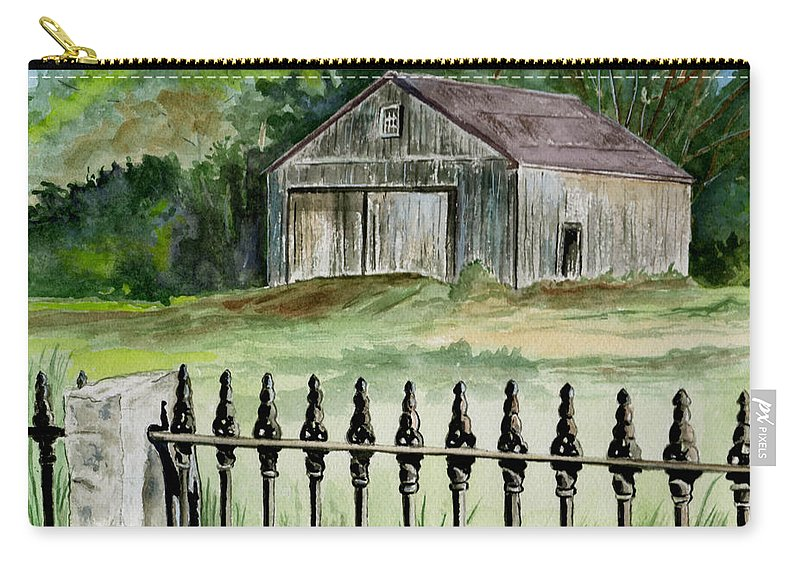 Landscape Carry-all Pouch featuring the painting The Barn At Parsonsfield Maine by Brenda Owen