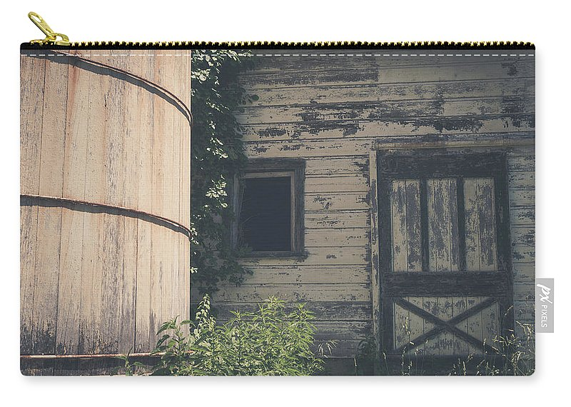 Barn Rustic Building Photography Landscape Old Carry-all Pouch featuring the photograph The Barn by Robert Worth