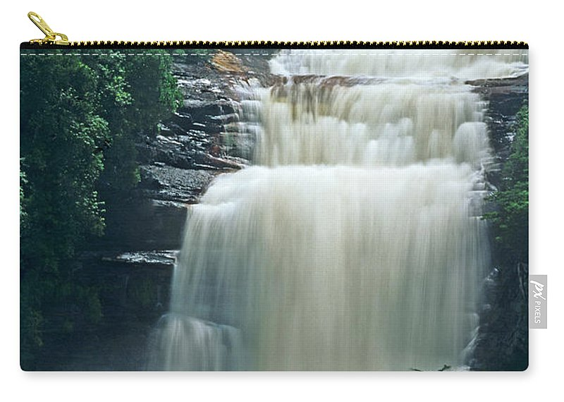 Venezuela Carry-all Pouch featuring the photograph The Base Of Angel Falls In Canaima National Park Venezuela by Dave Welling