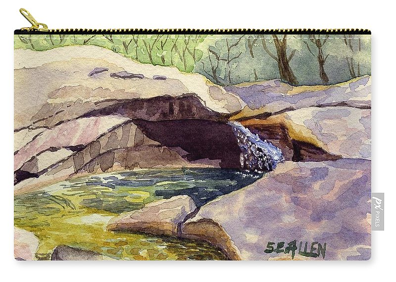 The Basin Carry-all Pouch featuring the painting The Basin by Sharon E Allen
