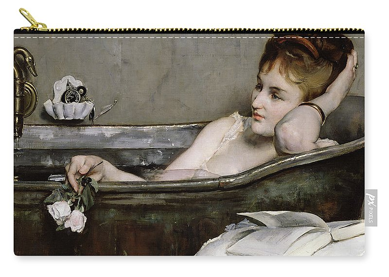 Alfred George Stevens Carry-all Pouch featuring the painting The Bath by Alfred George Stevens