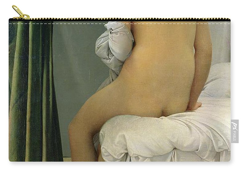 The Carry-all Pouch featuring the painting The Bather by Jean Auguste Dominique Ingres
