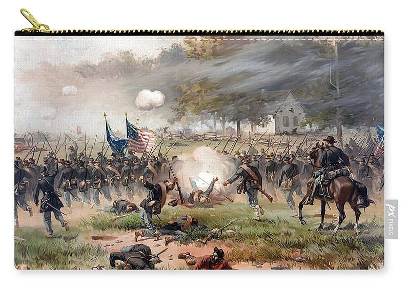 Civil War Carry-all Pouch featuring the painting The Battle Of Antietam by War Is Hell Store