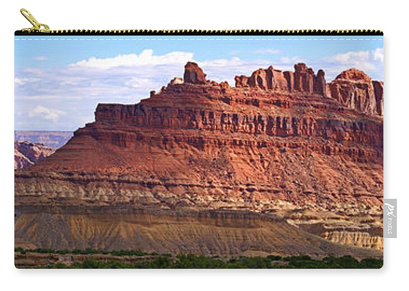 Landscape Utah Carry-all Pouch featuring the photograph The Battleship Utah by Heather Coen