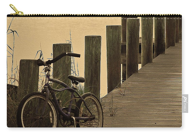 Bike Carry-all Pouch featuring the photograph The Beach Comber by Robert Meanor