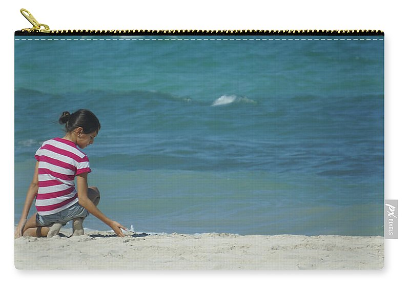 Youth Carry-all Pouch featuring the photograph The Beach by Jurq Studio