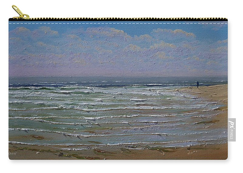 Seascape Carry-all Pouch featuring the painting The Beachcomber by Frank Wilson
