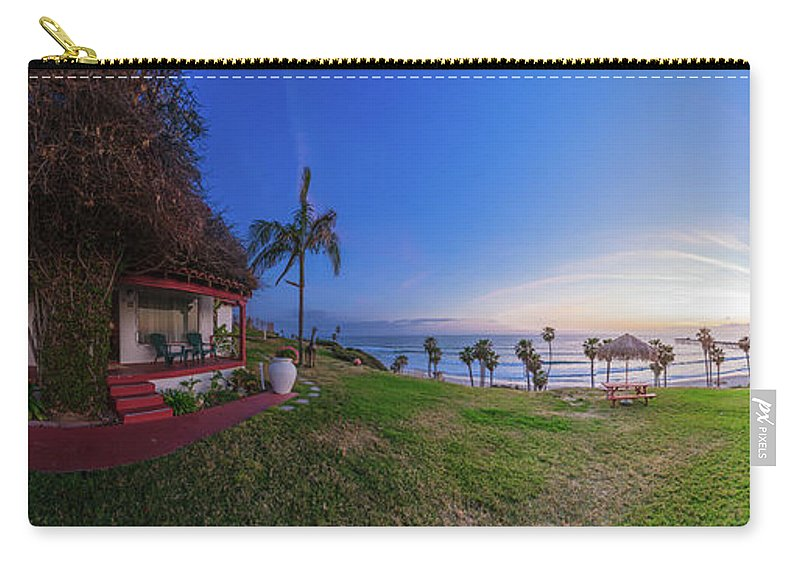 San Clemente Carry-all Pouch featuring the photograph The Beachombers Views by Scott Campbell