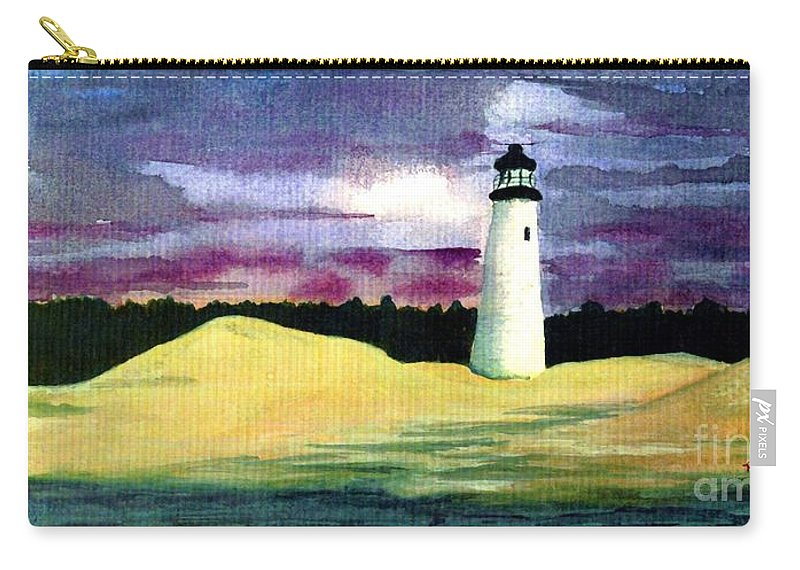 Fine Art Carry-all Pouch featuring the painting The Beacon by Patricia Griffin Brett