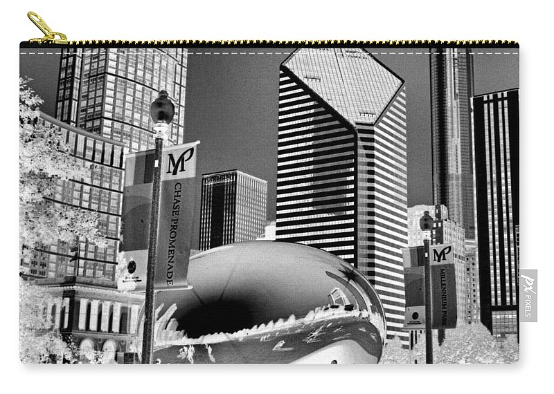 The Bean Carry-all Pouch featuring the photograph The Bean - 2 by Ely Arsha
