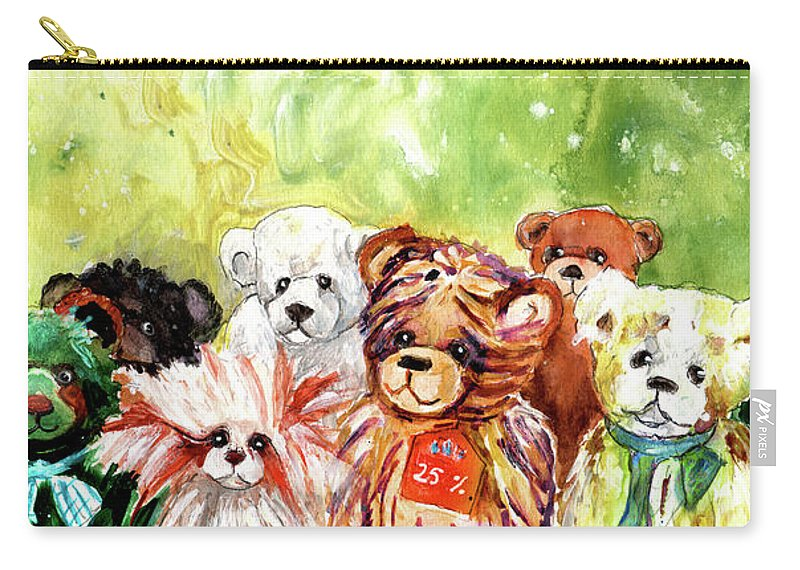 Truffle Mcfurry Carry-all Pouch featuring the painting The Bears From The Yorkshire Moor 02 by Miki De Goodaboom