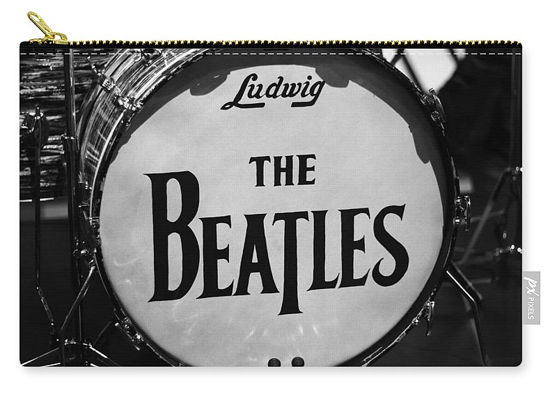 The Beatles Drum Carry-all Pouch featuring the photograph The Beatles Drum by Dan Sproul