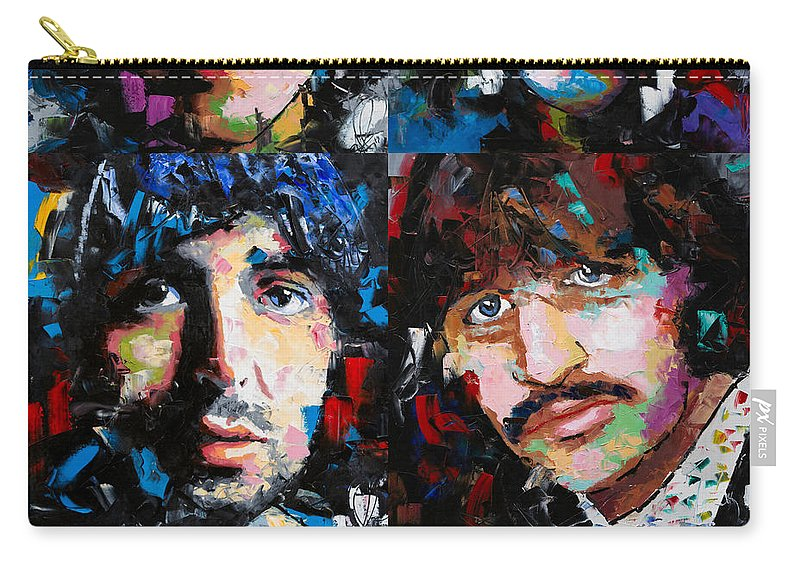 The Beatles Carry-all Pouch featuring the painting The Beatles by Richard Day