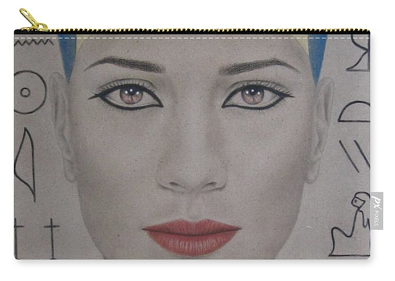 Woman Carry-all Pouch featuring the painting The Beautiful One Has Come by Lynet McDonald
