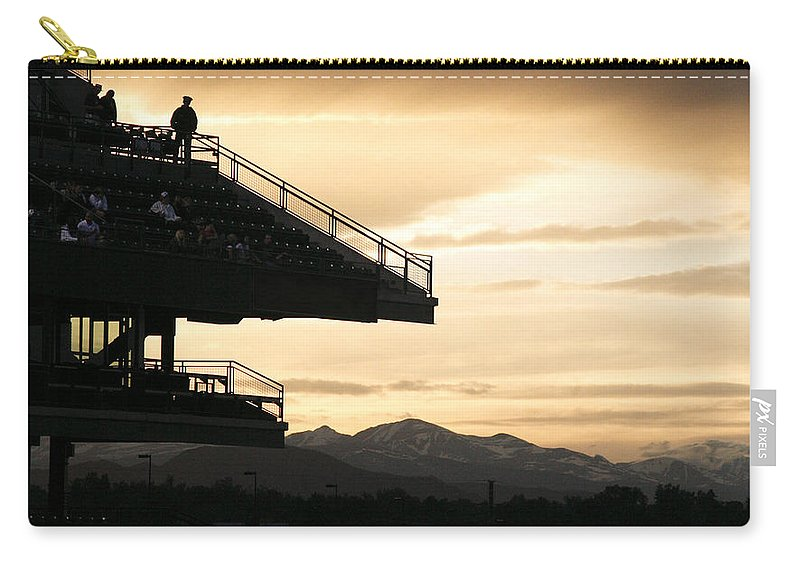 Sunset Carry-all Pouch featuring the photograph The Beauty Of Baseball In Colorado by Marilyn Hunt
