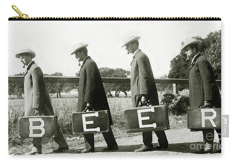 Prohibition Carry-all Pouch featuring the photograph The Beer Boys by Jon Neidert