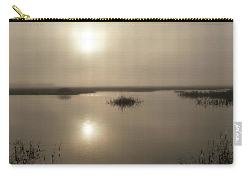 Fog Carry-all Pouch featuring the photograph The Beginning by Bob Johnson