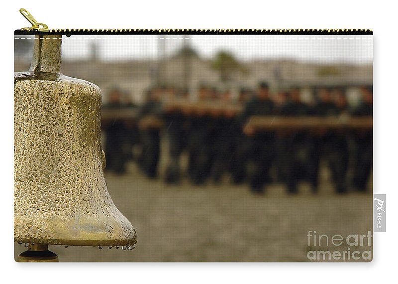 Single Object Carry-all Pouch featuring the photograph The Bell Is Present On The Beach by Stocktrek Images