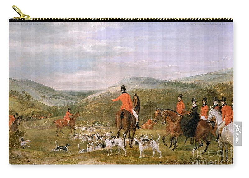 The Carry-all Pouch featuring the painting The Berkeley Hunt by Francis Calcraft Turner