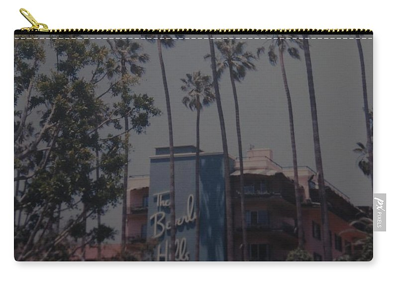 Beverly Hills Carry-all Pouch featuring the photograph The Beverly Hills Hotel by Rob Hans